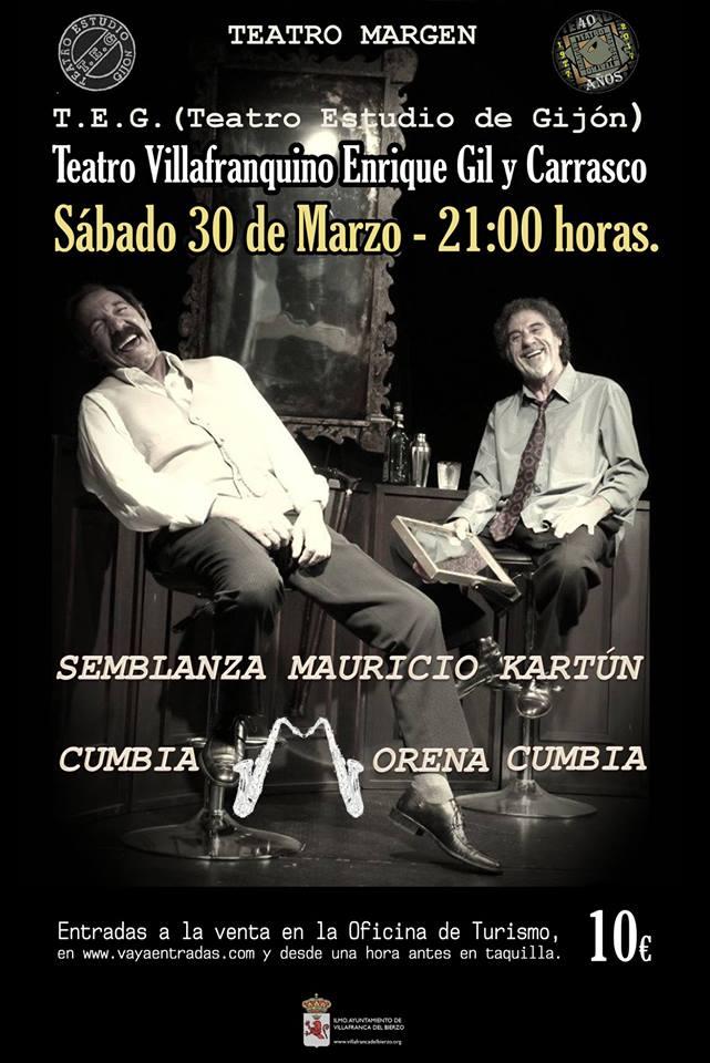 Foto de Semblanza Mauricio Kartún - Cumbia Morena Cumbia en el Teatro Villafranquino