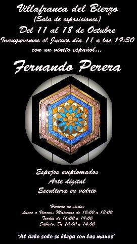 Foto de Exposición del artista berciano Fernando Perera