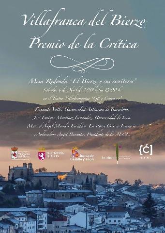 Foto de Villafranca del Bierzo falla este sábado el Premio Nacional de la Crítica Literaria