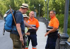 Foto de Voluntarios de Protección Civil de León se forman en Villafranca del Bierzo sobre la atención a peregrinos