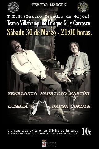 Foto de Los televisivos José Antonio Lobato y Manuel Pizarro dan vida en Villafranca del Bierzo a la obra del argentino Mauricio Kartún